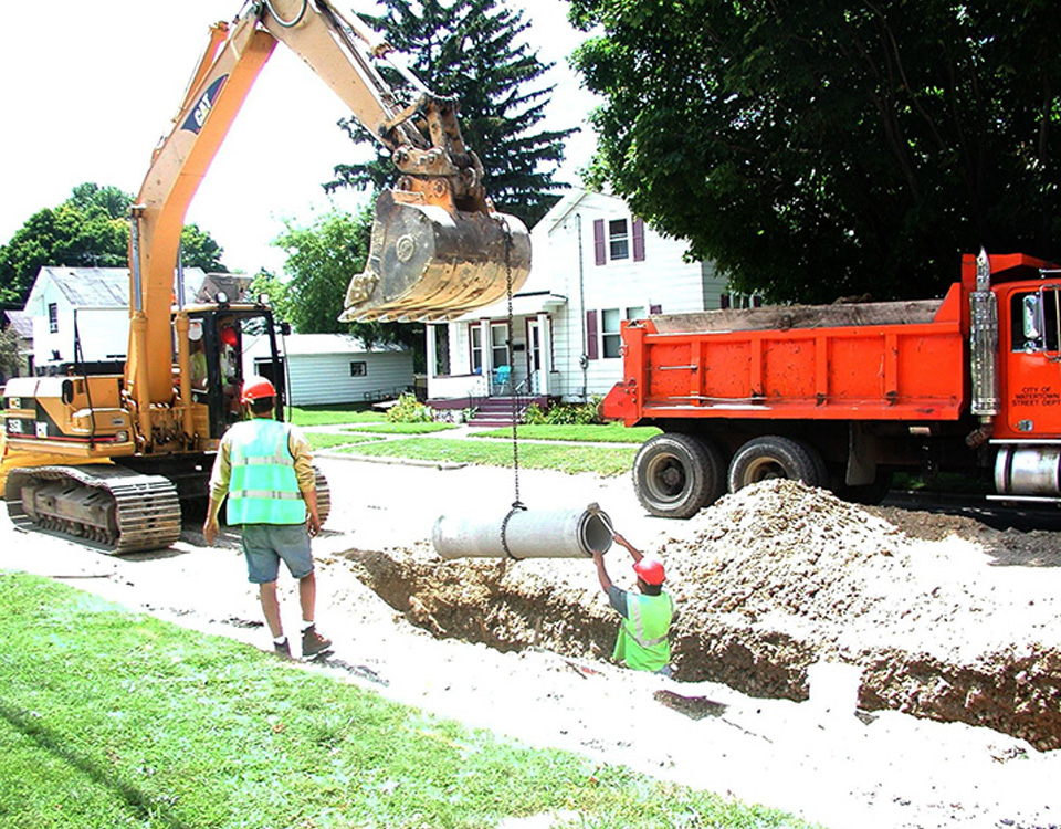 Installation de drain français | Electra Excavation
